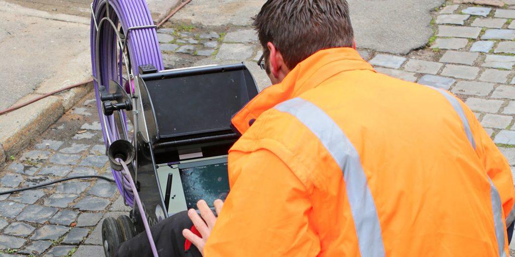 Monitoring video kanalizacji podczas inspekcji kamerą