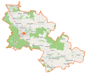 Mapa Wiązowna wysówz szamba hydroservice obszar działania